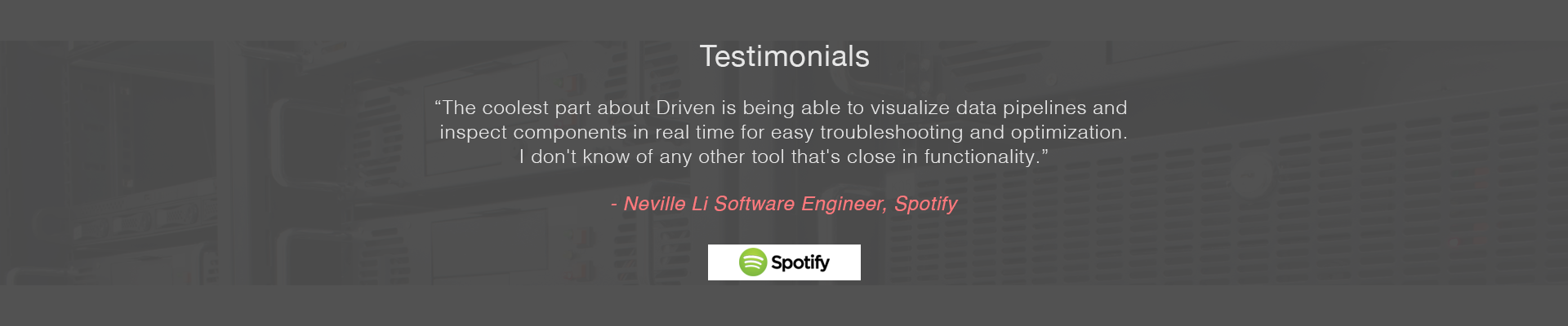 Customer Testimonial - Spotify